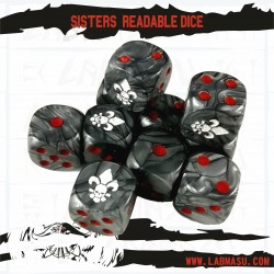 Sister Readable Dice. Set of 10