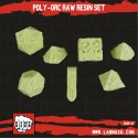 Poly-Orcs Raw Resin set of 7