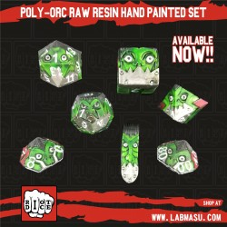 Poly-Orcs Hand Painted Resin set of 7