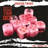 SOIF compatible Bolton Marble Pink dice set