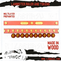 SOIF compatible Lannister tokens and ruler