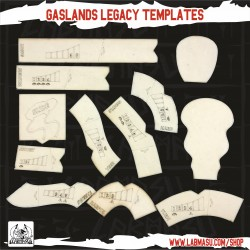 Gaslands Templates LEGACY edition - Double side