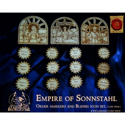 Empire of Sonnsthal blessing card and order markers