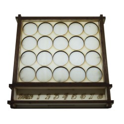 miniature tray with rule chart