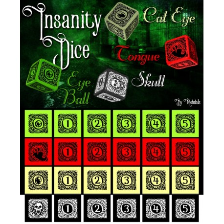Insanity Dice by Dallas Mehlhoff